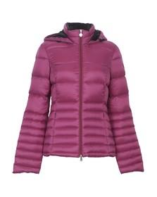 EA7 Emporio Armani Womens Pink Hooded Mountain Down Jacket