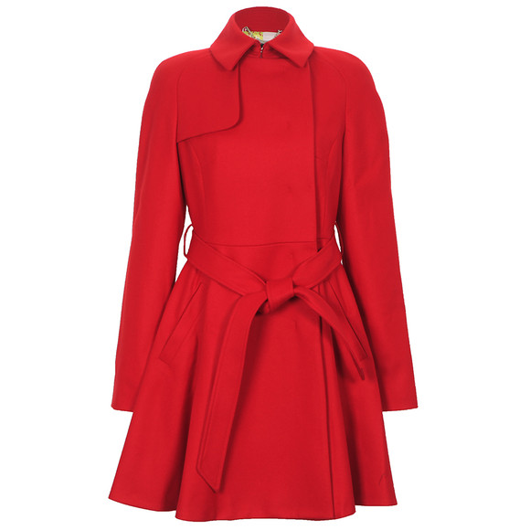 Ted Baker Red Albine Wool Trench Coat