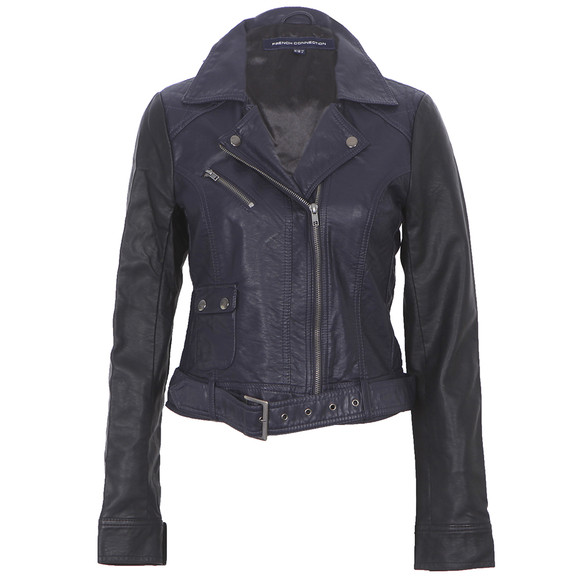 French Connection Night Athena Leather Jacket