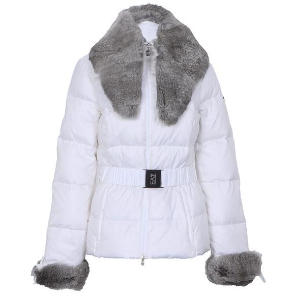 EA7 Emporio Armani Mountain Puffy Down Jacket With Fur Collar