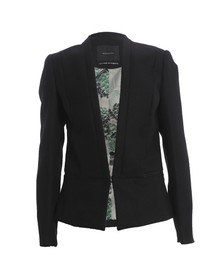 Maison Scotch Womens Black Clean Tailored Blazer