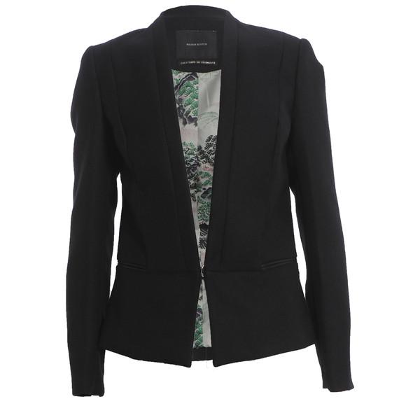 Maison Scotch Womens Black Clean Tailored Blazer main image