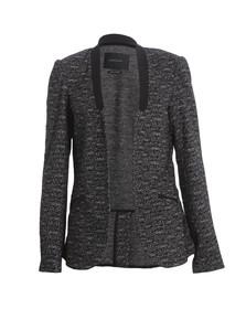Maison Scotch Womens Black Unlined Stretch Wool Blazer