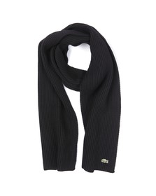 Lacoste Mens Black Lacoste RE4212 Scarf