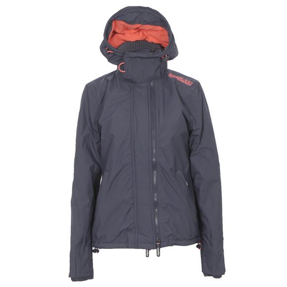 Superdry Charcoal Pop Zip Hooded Arctic Windcheater