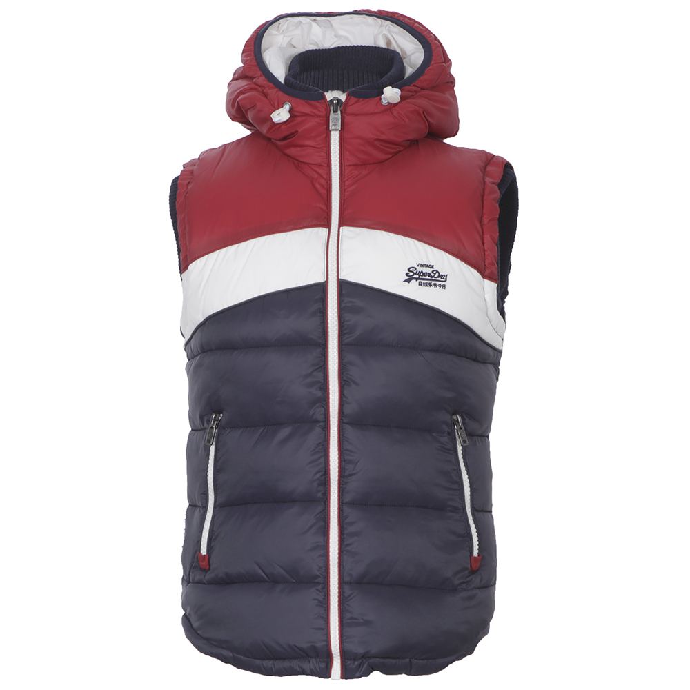 Superdry Navy GiletMasdings Retro Hooded PkXuOiZT