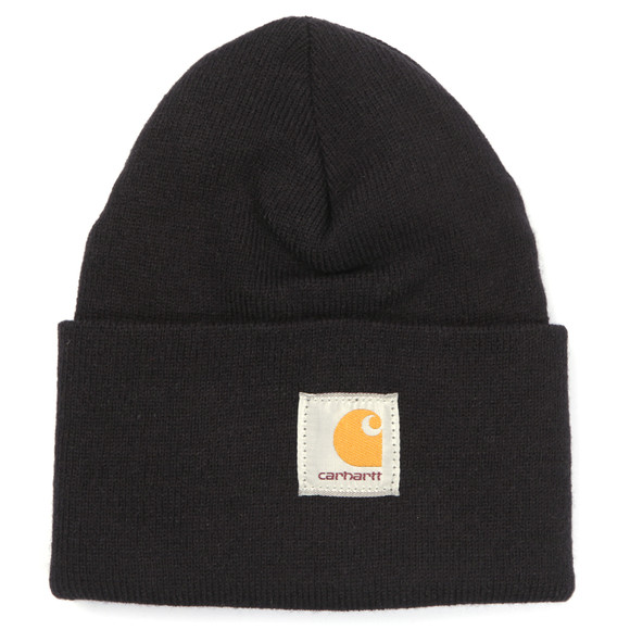 Carhartt WIP Mens Black Carhartt Watch Hat