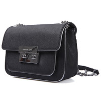 Michael Kors Black Sloan Shoulder Flap Bag