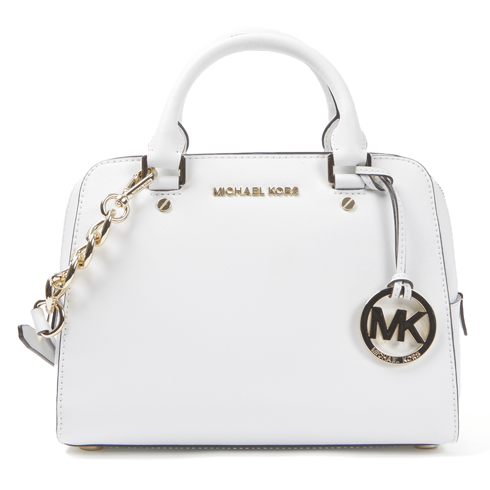 e90aecd1271a8e Michael Kors Optic White Jet Set Travel Satchel main image