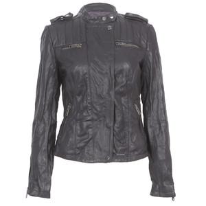 superdry black shrunken biker jacket