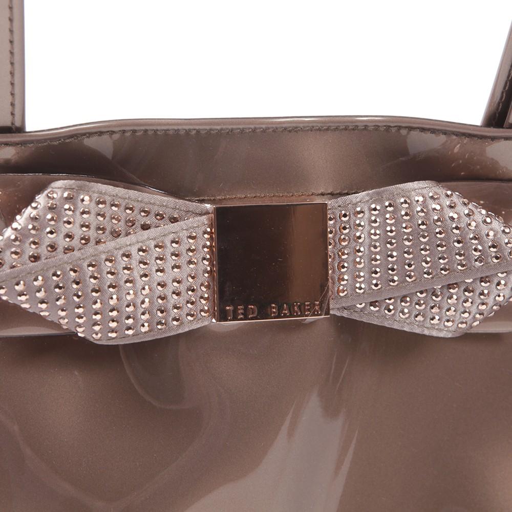 94561e37a Ted Baker Gemcon Rosegold Metallic Bow Gem Ikon Bag main image