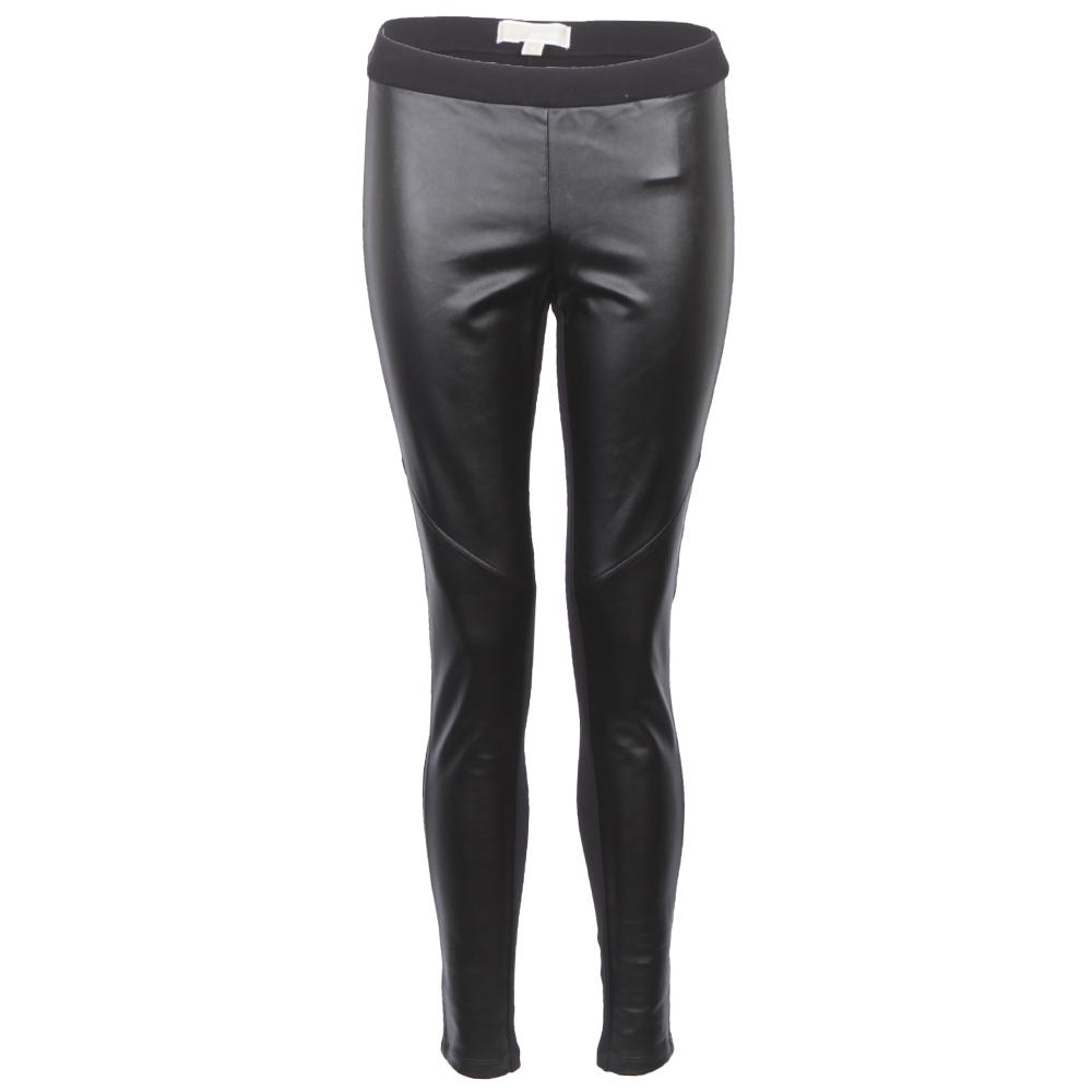 Michael Kors Black Leather Look Legging main image