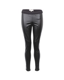 Michael Kors Womens Black Michael Kors Black Leather Look Legging