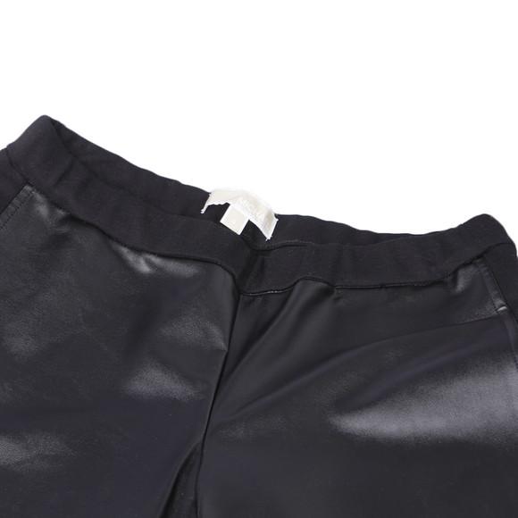 Michael Kors Womens Black Michael Kors Black Leather Look Legging main image