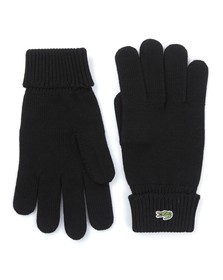 Lacoste Mens Black  Knitted Gloves