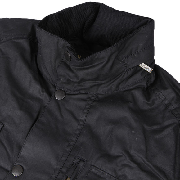 Barbour Lifestyle Mens Black Sapper Wax Jacket