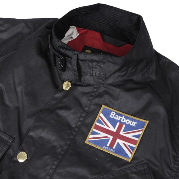 Barbour International Mens Black International Union Jack Jacket