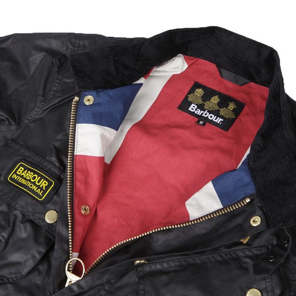 Barbour International Mens Black International Union Jack Jacket main image