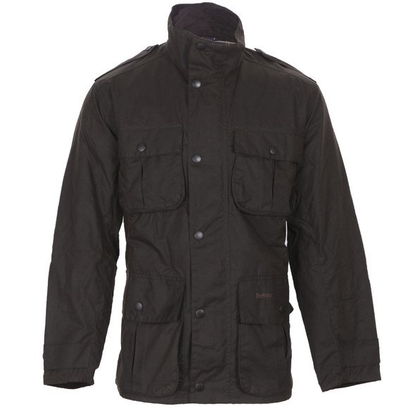 Barbour Lifestyle Mens Green Trooper Wax Jacket main image