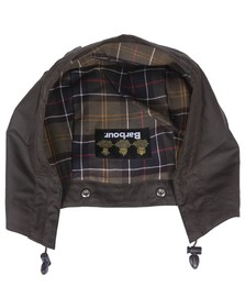 Barbour Lifestyle Mens Green Barbour Classic Sylkoil Hood