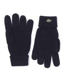 Lacoste Mens Blue Lacoste RV4214 Knitted Gloves