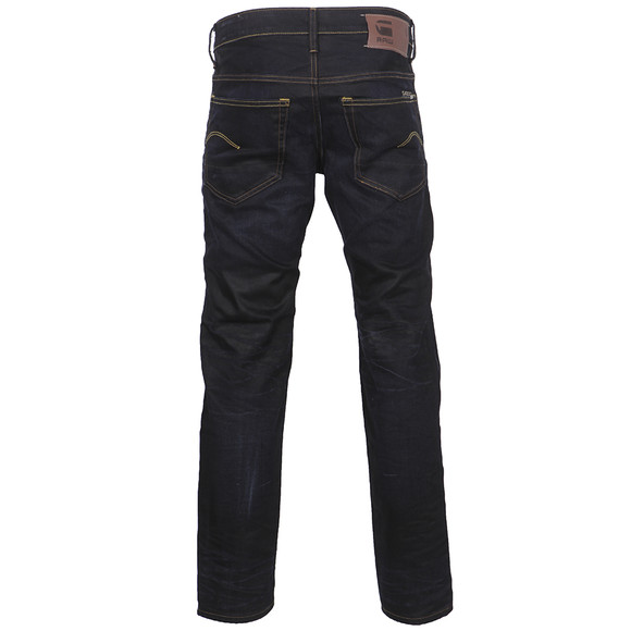 G-Star Mens Blue 3301 Indigo Aged Low Tapered Jean main image