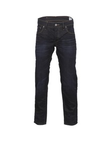 G-Star Mens Blue 3301 Indigo Aged Low Tapered Jean