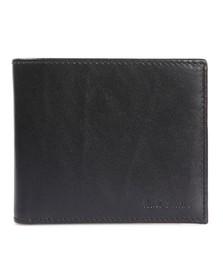 Paul Smith Jeans Mens Black Signature Stripe Interior Billfold & Coin Pocket Wallet