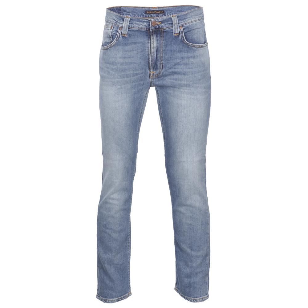 4f31d6c3ea00 Nudie Jeans Mens Blue Nudie Thin Finn Organic Summer Sky Stretch Jeans