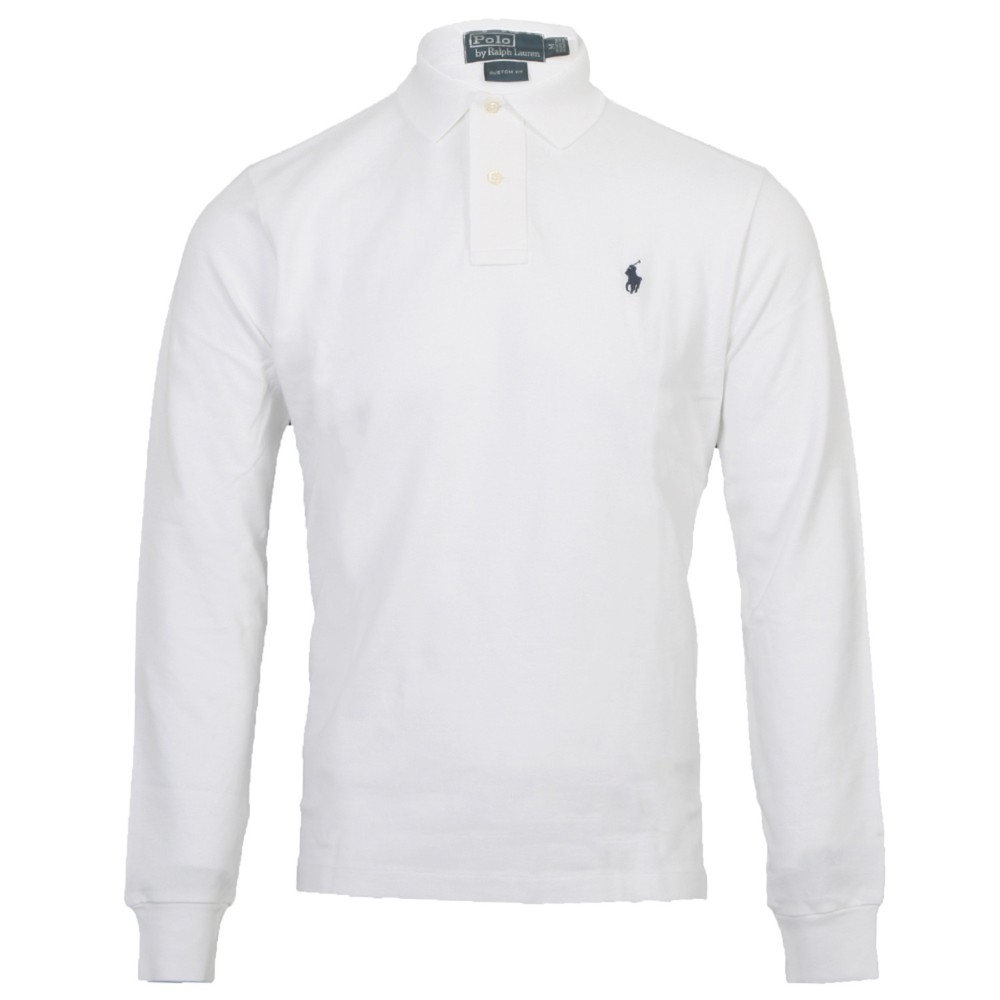 0186fc0a7 Ralph Lauren Custom Fit L/S Polo in White | Oxygen Clothing