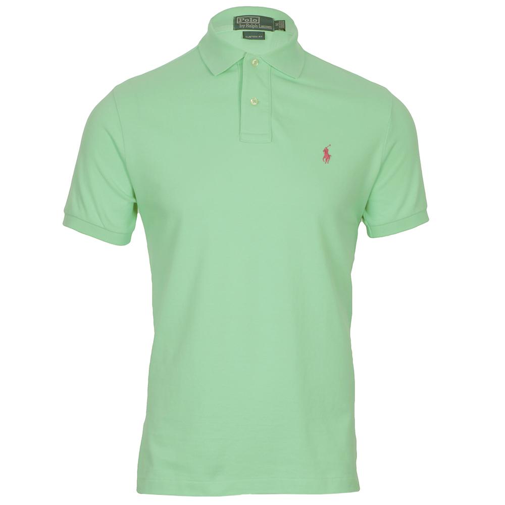 f4602d77c Polo Ralph Lauren Mens Green Ralph Lauren Mint Green Custom Fit Polo Shirt
