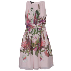 ted baker carlii symmetrical orchid print dress