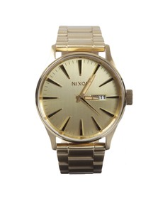 Nixon Mens Gold Sentry SS Watch
