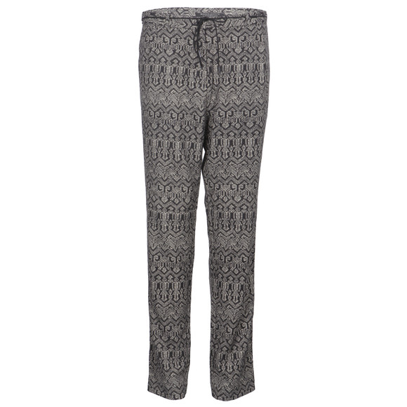 maison scotch drapey printed pant with belt