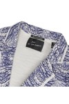 Maison Scotch Womens Blue Maison Scotch Printed Slub Jersey Blazer