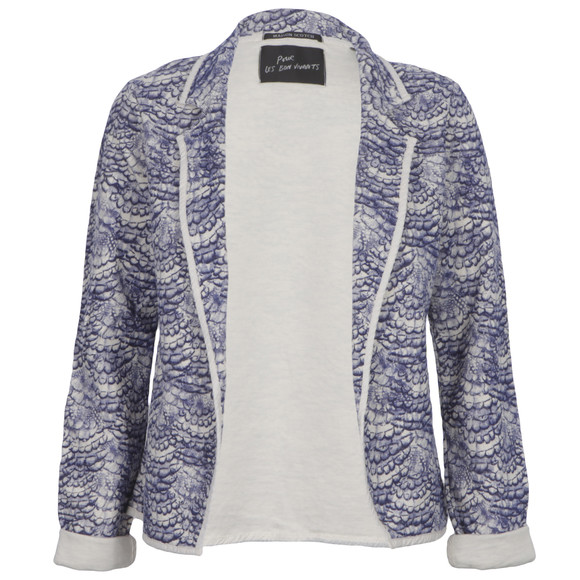 Maison Scotch Womens Blue Maison Scotch Printed Slub Jersey Blazer main image
