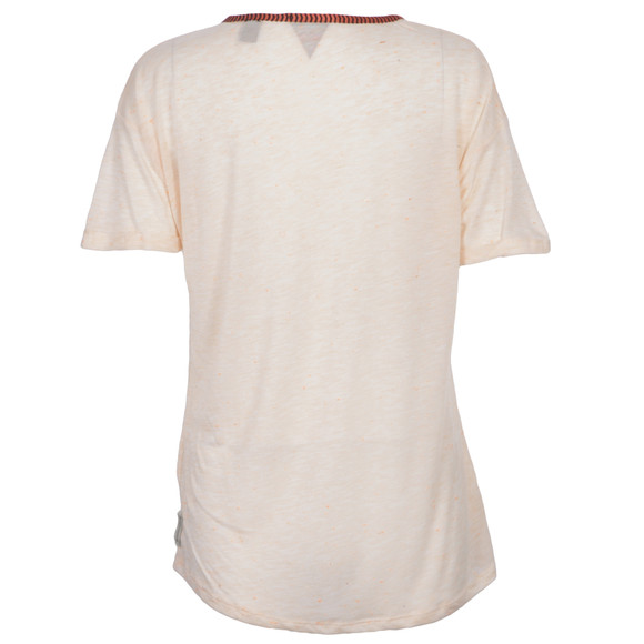 Maison Scotch Womens Pink Neppy Tee With Embroidery main image