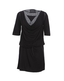 Maison Scotch Womens Black Drapey Jersey Dress