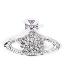 Vivienne Westwood Womens Silver Bas Relief Brooch