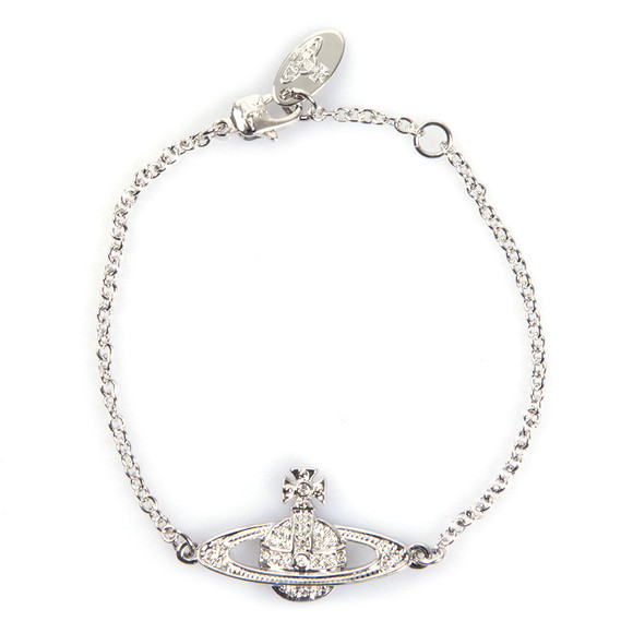 Vivienne Westwood Womens Silver Mini Bas Relief Chain Bracelet