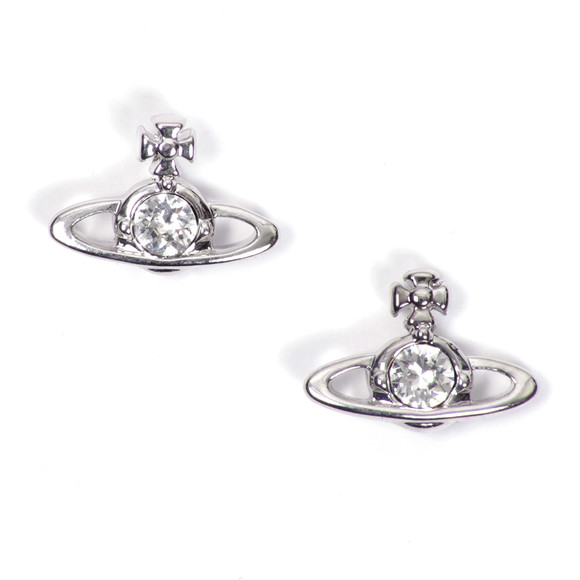 Vivienne Westwood Womens Silver Nano Solitaire Earrings main image
