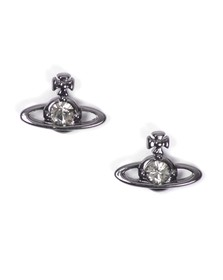 Vivienne Westwood Womens Black Nano Solitaire Earrings