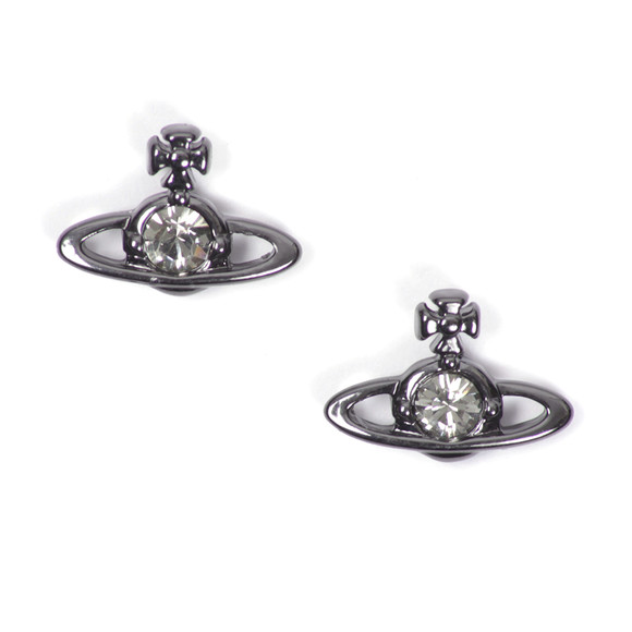 Vivienne Westwood Womens Black Nano Solitaire Earrings main image
