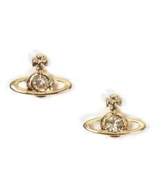 Vivienne Westwood Womens Gold Nano Solitaire Earrings