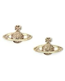 Vivienne Westwood Womens Gold Mini Bas Relief Earring