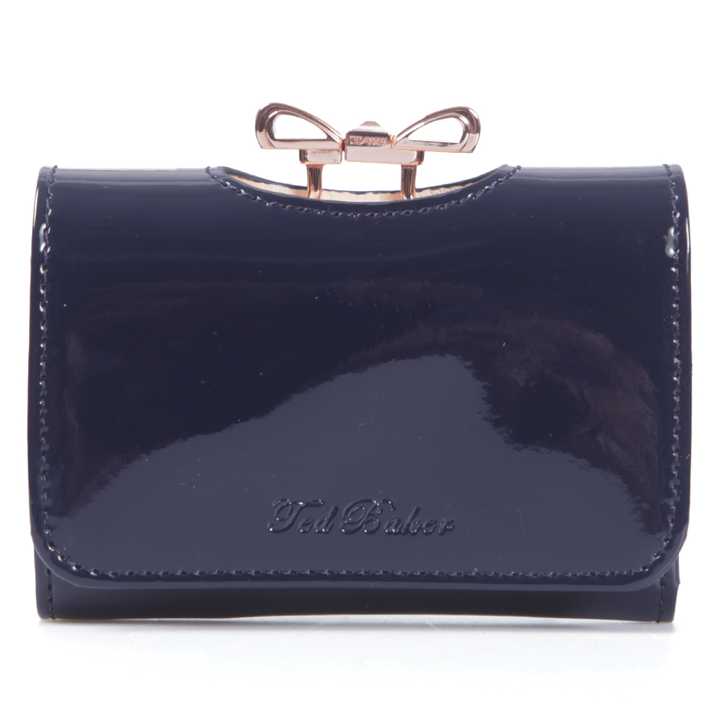 70030eb499d18 Ted Baker Womens Blue Ted Baker Navy Temmey Small Crystal Bow Purse main  image. Loading zoom