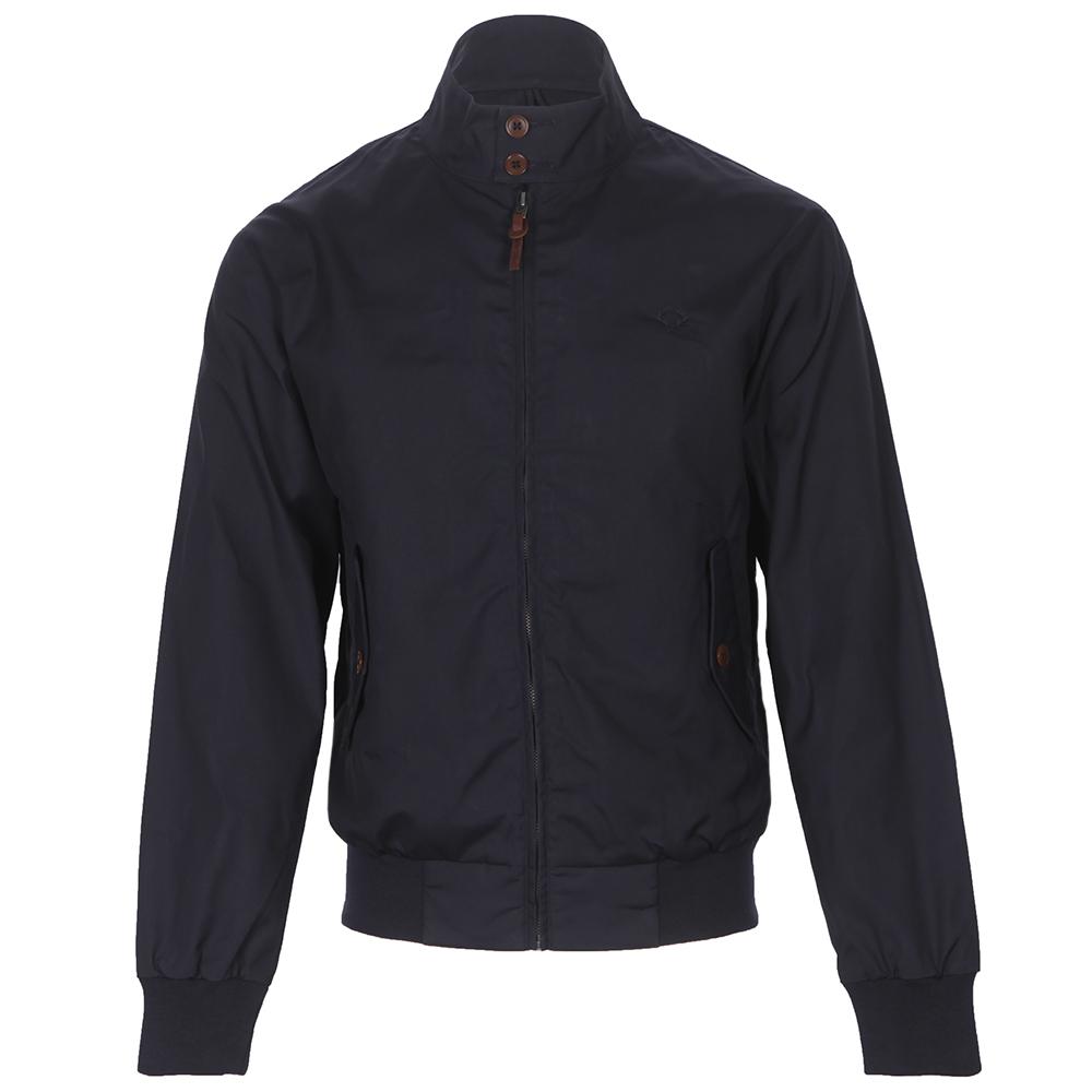 ajatuksia hieno tyyli alennuskauppa Mens Blue Fred Perry Waxed Cotton Harrington Jacket