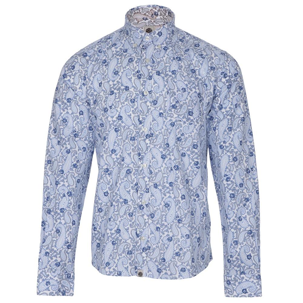 Pretty Green Mens Blue Pretty Green Merton Blue Paisley Print Shirt main  image. Loading zoom 6a8d833720