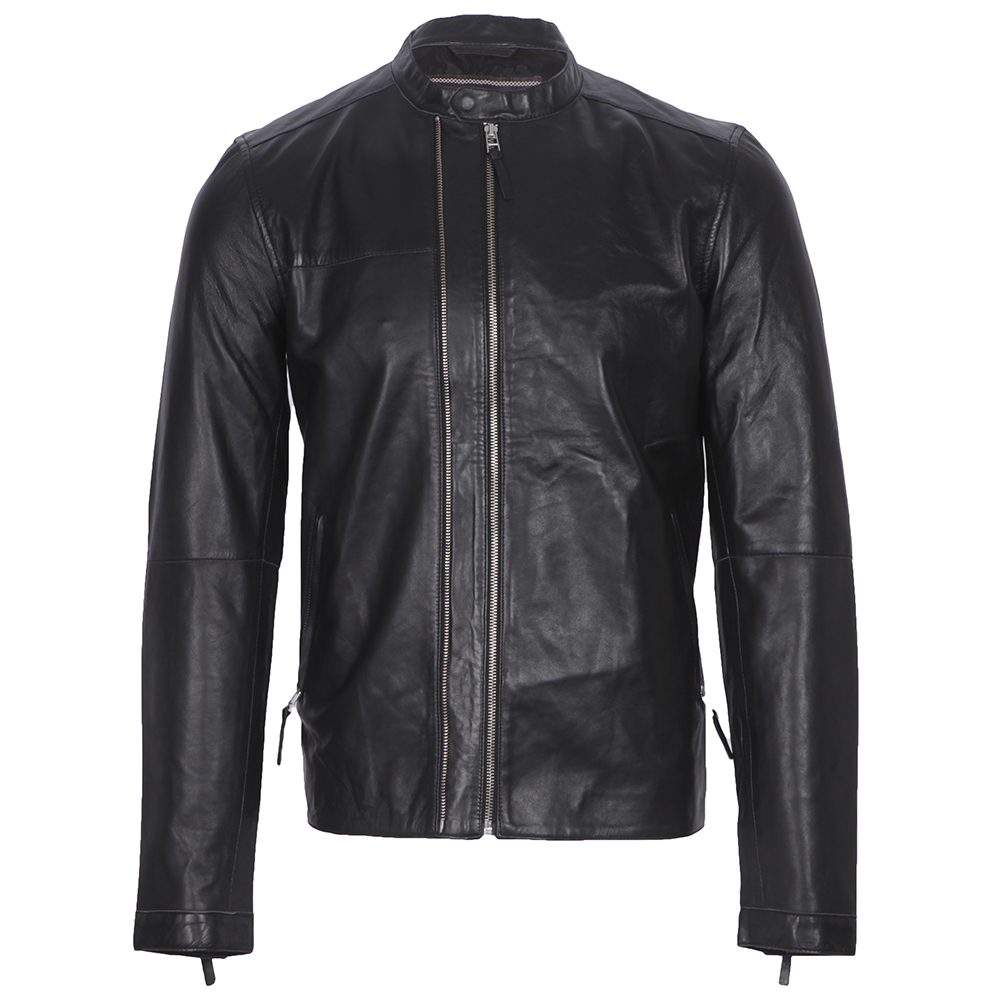 Pretty Green Addison Leather Biker Jacket  755a11357d55