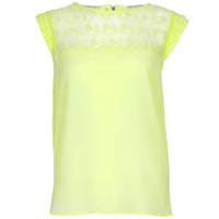 maison scotch silky feel top with lace